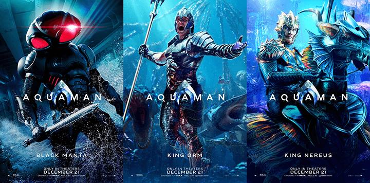 《水行俠》主要角色們的個人海報公開。