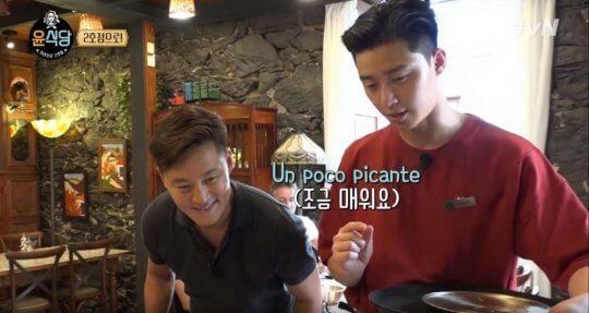 朴敘俊出演《尹食堂2》片段