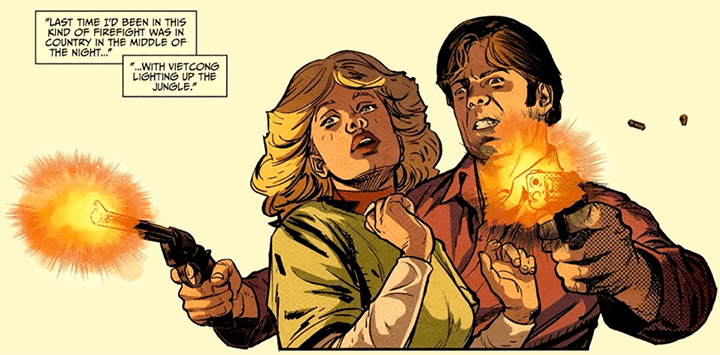 我們無法期待在《 終極警探:第一年 》漫畫裡看 麥克連 大展神威 (他還只是個嫩菜啊)。
