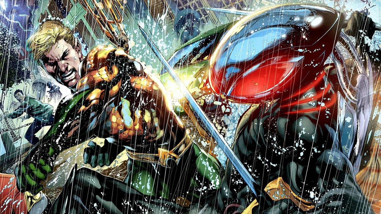 《水行俠》故事中,黑蝠鱝對水行俠的仇恨與不諒解愈益加深。