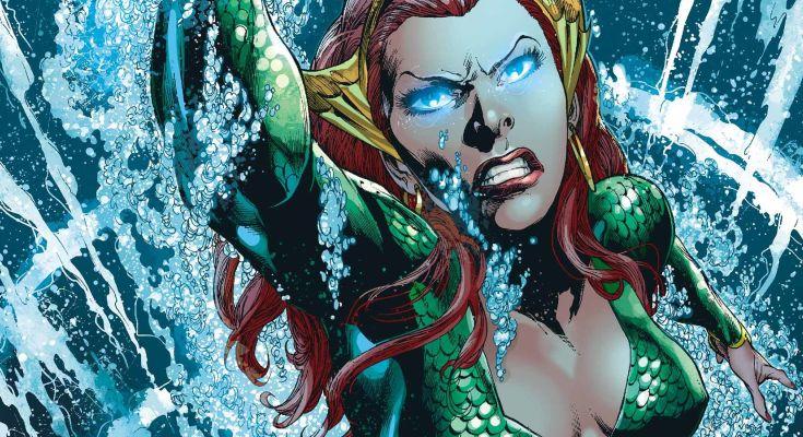 在《 水行俠 》漫畫中登場的 梅拉 。