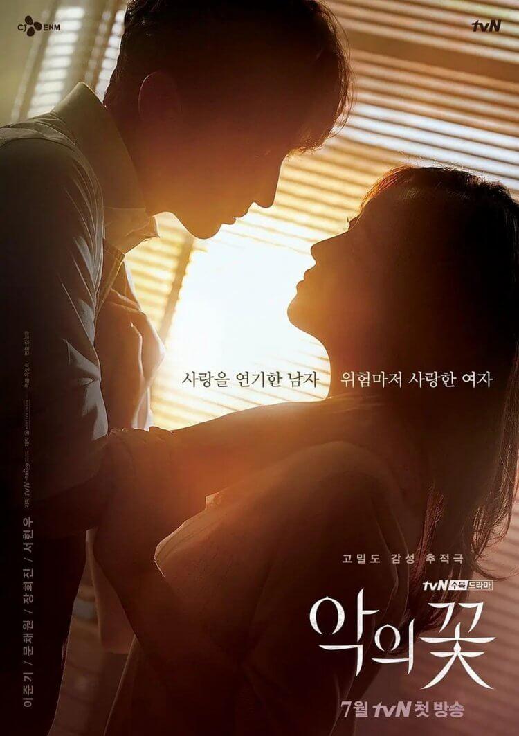 韓劇《惡之花》海報A款:僅有輪廓剪影的懸疑感