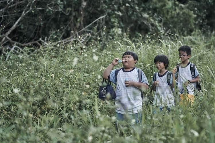 《嗨!神獸》片中三位小男孩白潤音、林佑銓、陳京甫組成「神獸 boys」