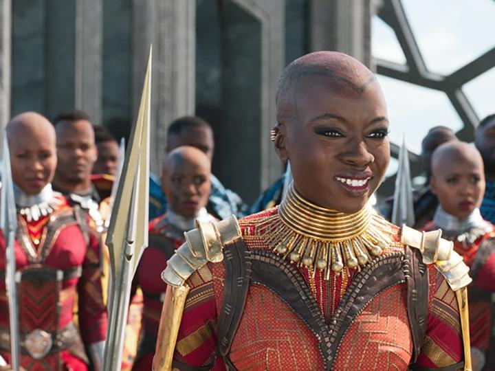 《 黑豹 》中以女性為主的瓦干達侍衛隊。