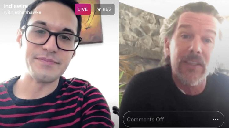 伊森霍克上了 IndieWire 在 IG 的直播,分享隔離的心理狀態