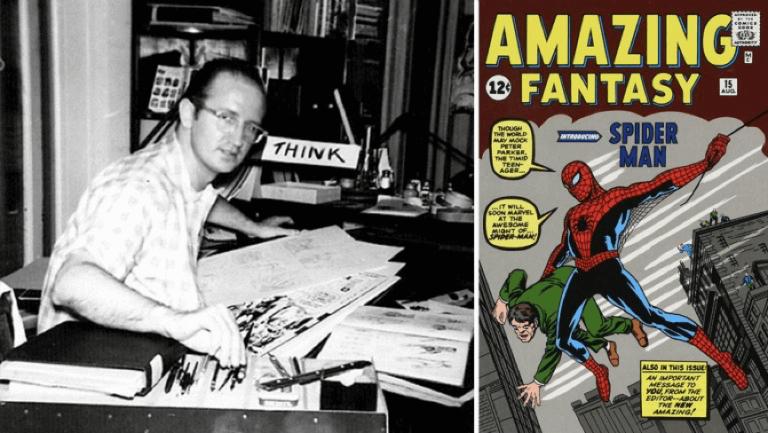 創作出「蜘蛛人」的漫畫家:史蒂夫迪特科。