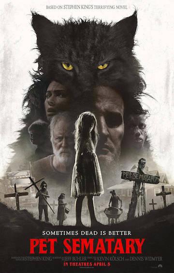 改編史蒂芬金恐怖小說的新版電影《禁入墳場》(Pet Sematary) 海報。