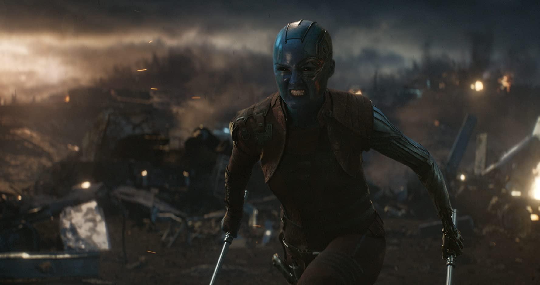 凱倫吉蘭飾演《復仇者聯盟:終局之戰》涅布拉一角。