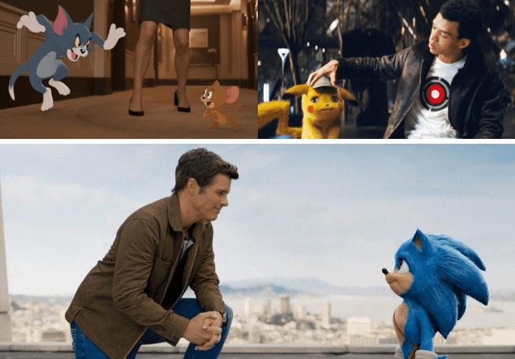 結合動畫與真人演出的好萊塢電影們。