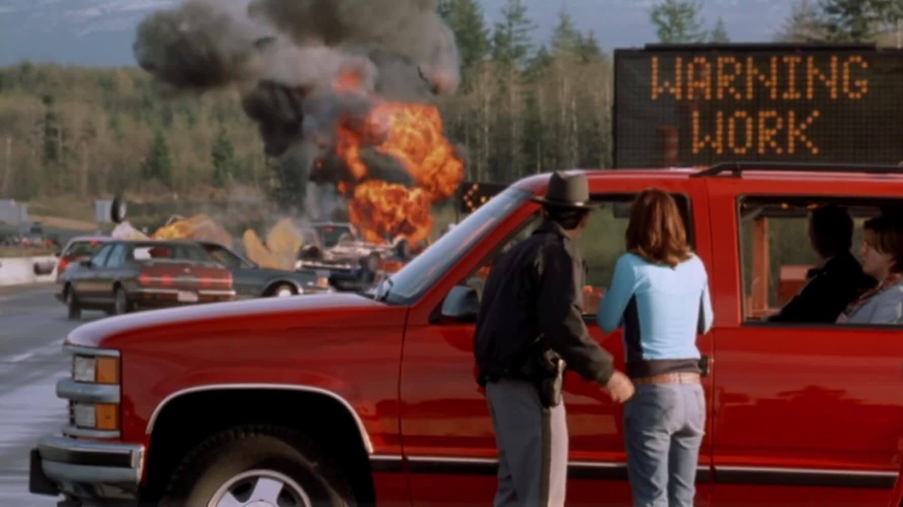《絕命終結站 2》電影劇照。