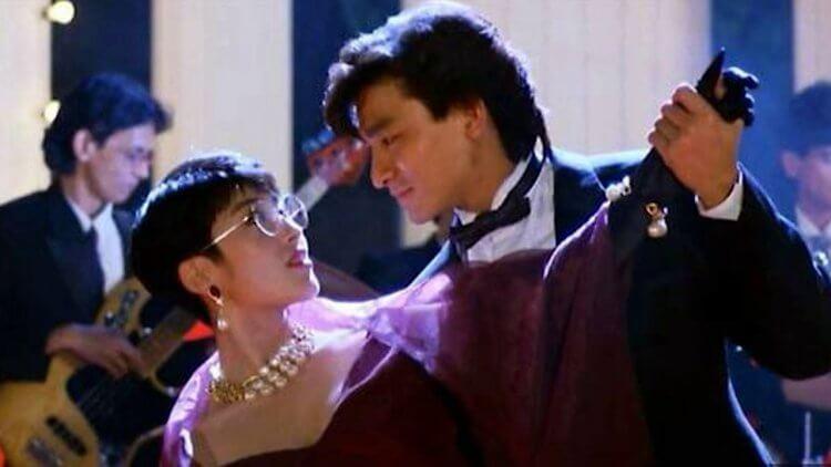 《與龍共舞》不但集浪漫愛情與惡搞邪典之大成,還有劉德華與張敏的盛世顏值首圖