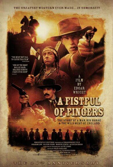 艾德格萊特導演 1995 年西部喜劇片《荒野大嫖客》(A Fistful of Fingers)。