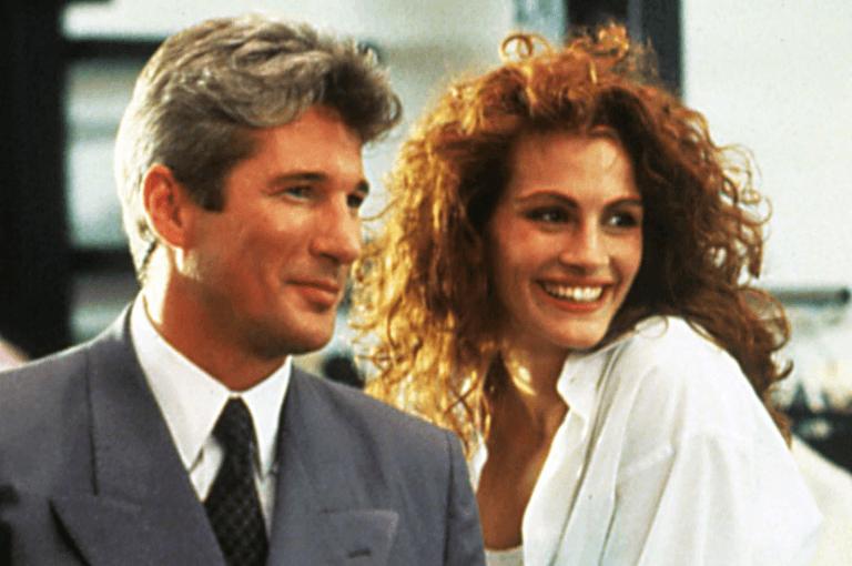 1990 年由李察吉爾與茱莉亞羅勃茲共演的《麻雀變鳳凰》。
