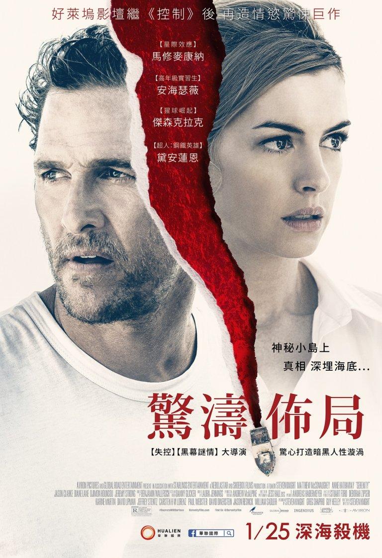 懸疑失控的驚悚故事《驚濤佈局》繁中電影海報,由華聯國際代理發行。