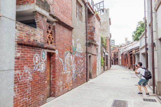萬華老街照片。
