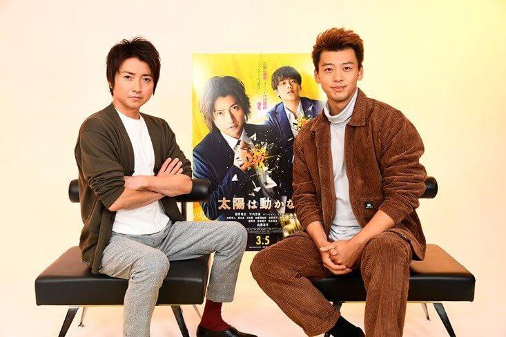 日韓聯手動作電影《太陽不會動》藤原龍也、竹内涼真線上發佈會。