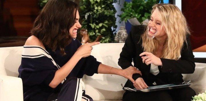 蜜拉 凱特 為宣傳《 老娘也要當間諜 》在「 艾倫秀 」上零偶包互動,超級搞笑。