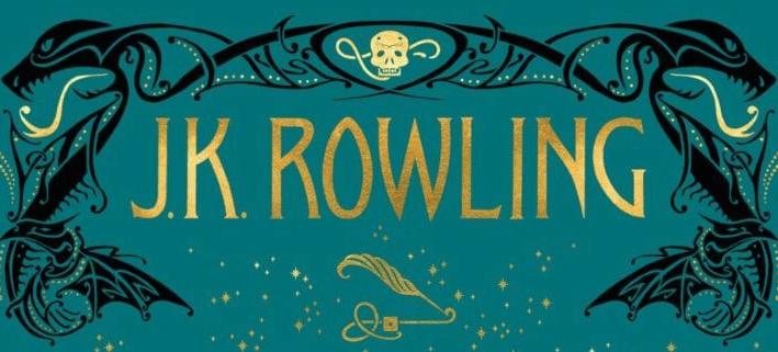 電影劇本小說 《 怪獸與葛林戴華德的罪行 》封面上作者 : J. K. 羅琳 名字上方也藏有劇情 彩蛋