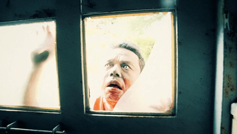 殭屍片 《 一屍到底 》 劇照 。
