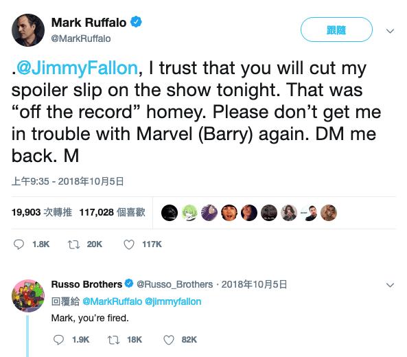馬克盧法洛曾在推特吐苦水,差點被導演換下台。