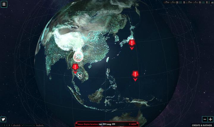 《哥吉拉:怪獸之王》片商推出「Monarch Sciences」網站持續觀測全球異象與怪獸蹤影。