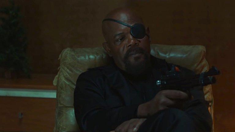 《蜘蛛人:離家日》中的尼克福瑞 (Nick Fury)