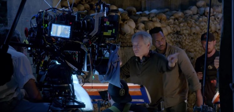 拍攝《雙子殺手》的李安導演與拍攝現場花絮照。