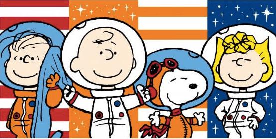 人類登上月球滿 50 週年,2019 台北電影玩具展將有廠商推出 snoopy 太空人造型的相關周邊模型公仔。