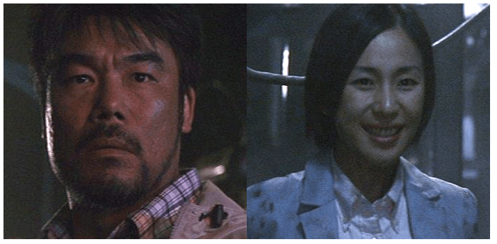《哥吉拉 2000》不再硬把角色人際關係加好加滿,研究追跡哥吉拉的男主角與採訪新聞的女記者之間並沒有過多情感關連。