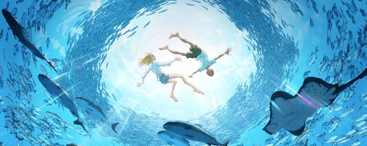 改編自同名漫畫的動畫電影《海獸之子》中,海與空兄弟倆擁有比常人更能接收大海訊息的能力。