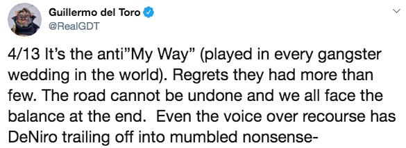 吉勒摩戴托羅對馬丁史柯西斯的評論。