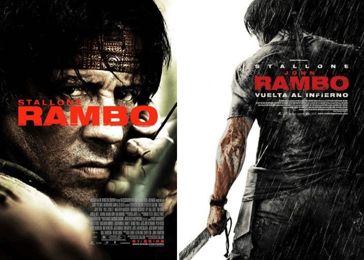 席維斯史特龍經典動作電影系列《第一滴血》2008 年推出的第 4 部續集英文片名《Rambo》已不見血,轉型意味濃厚。