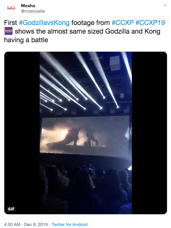 華納兄弟於今年巴西動漫展釋出《哥吉拉大戰金剛》的片段。