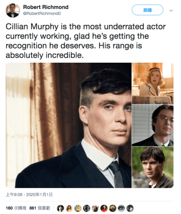 有網友也為席尼墨菲喊話,認為他是非常有潛力的演員。