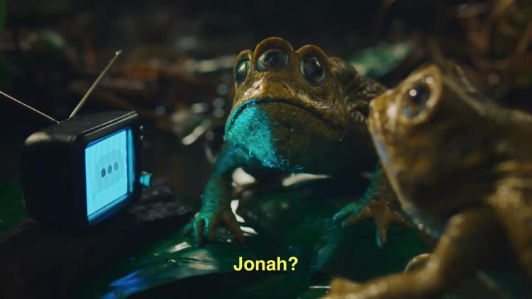 馬丁史柯西斯、喬納希爾拍攝的可樂廣告中謎樣的三眼青蛙。