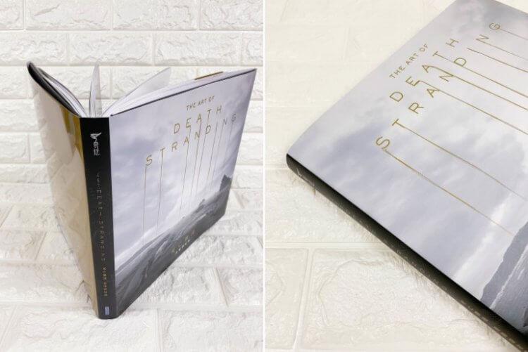 《死亡擱淺:美術設定集》整體裝幀以遊戲中神秘物質「開若爾金屬」為題