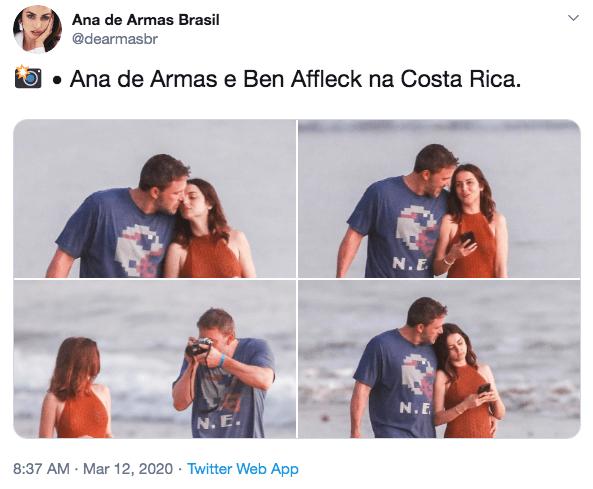班艾佛列克與安娜德哈瑪絲的戀情是近日粉絲們熱議話題。