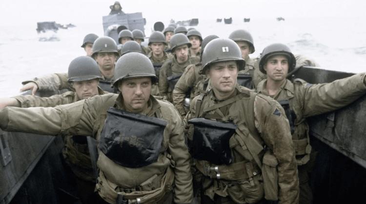 史蒂芬史匹柏執導的《搶救雷恩大兵》電影劇照。