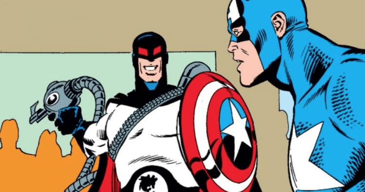 漫威漫畫中的卡爾與美國隊長。