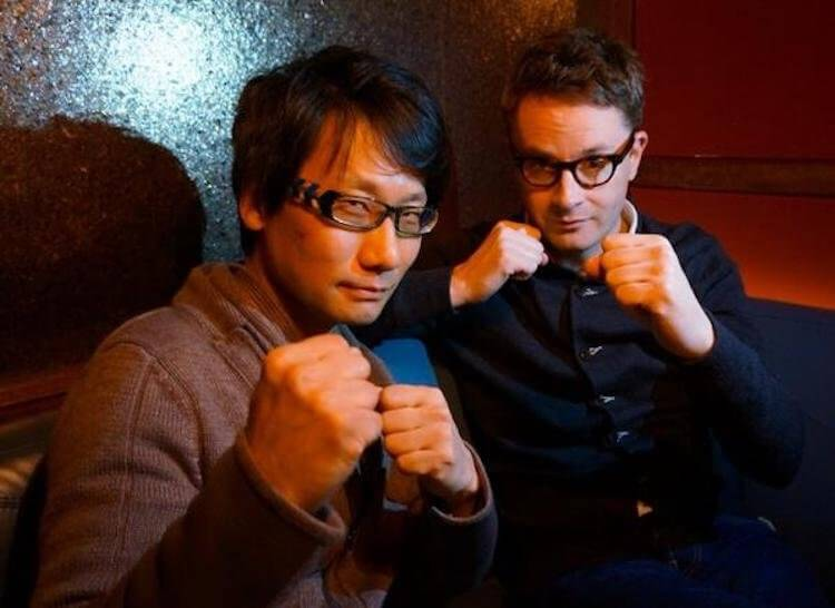 小島秀夫(左)與黑芬(右)。