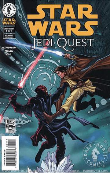 2001 年漫畫《STAR WARS: Jedi Quest》第一期中,講述了藍光劍的誕生經歷。