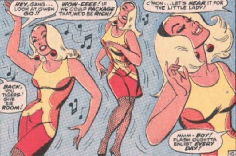 1960 年代,《蜘蛛人》漫畫系列中的關史黛西。