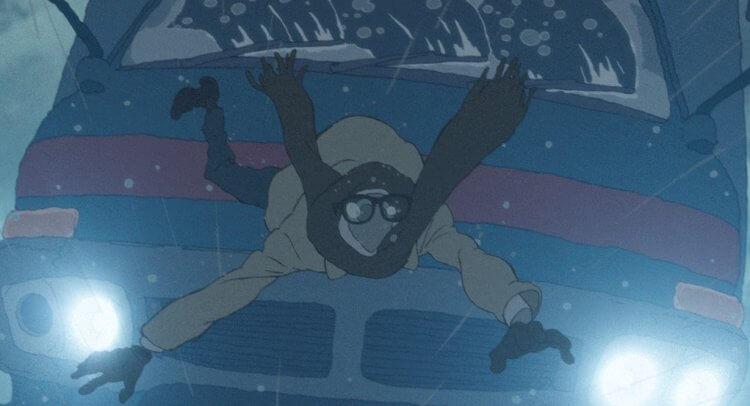 普樂卡工作室動畫電影《謙虛的英雄》之〈透明人〉(《霍爾的移動城堡》作畫監督山下明彥導演)。
