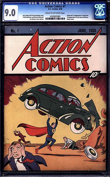 超人首次在 1938 年的《ACTION COMICS》登場。