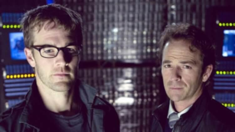 《風暴》路克派瑞 (Luke Perry) 與詹姆士范德比克 (James Van Der Beek)。