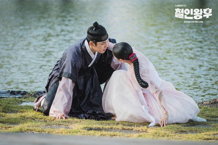 金正賢、申惠善《哲仁王后》跳水畫面