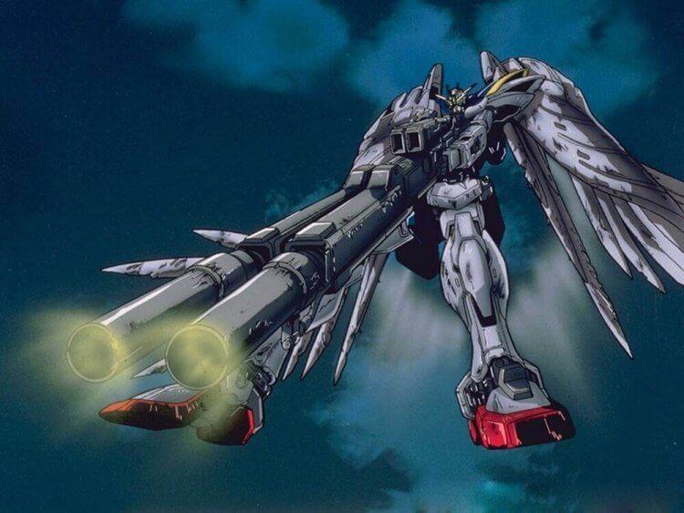 《新機動戰記鋼彈 W》系列動畫登場的飛翼零式。