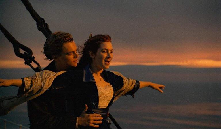 詹姆斯卡麥隆導演作品《鐵達尼號》,片中傑克與蘿絲的淒美愛情已是影史經典。