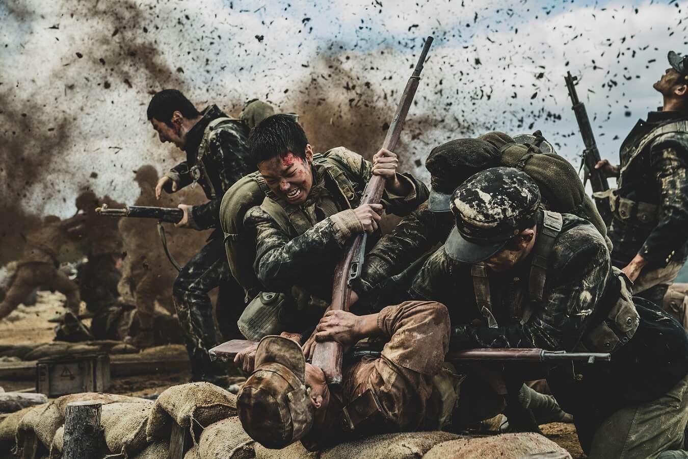 韓戰長沙里登陸戰真實事件改編的《長沙里之戰》電影劇照。