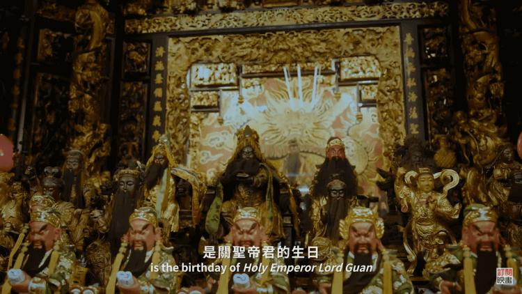 《神之鄉》劇中出現的綠袍持卷關聖帝君神像。